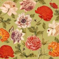 Servietten 25x25 cm - Flora Botanica grün