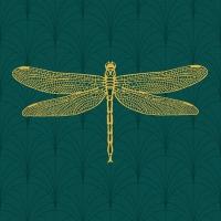 Servietten 25x25 cm - Libella, smaragd