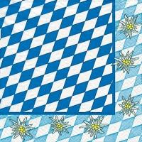 Servietten 33x33 cm - Alpen Edelweiß