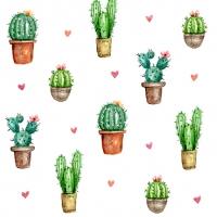 Servietten 33x33 cm - Cactus Love