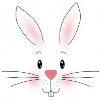 Servietten 33x33 cm - White Bunny