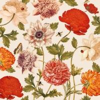 Servietten 33x33 cm - Flora Botanica creme
