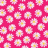 Servietten 33x33 cm - Dancing Daisies pink