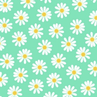 Servietten 33x33 cm - Dancing Daisies mint