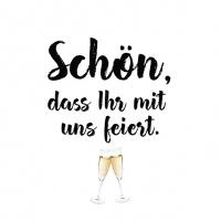 Servietten 33x33 cm - Schön feiern