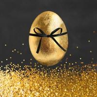 Servietten 33x33 cm - Golden Surprise