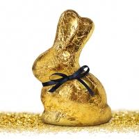 Servietten 33x33 cm - Golden Bunny