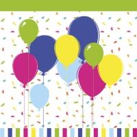 Servietten 33x33 cm - Balloons & Confetti