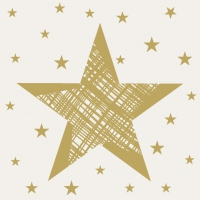 Servietten 24x24 cm - Shining Star Cream