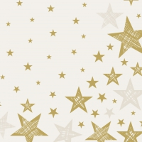 Servietten 33x33 cm - Shining Star Cream