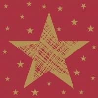 Servietten 24x24 cm - Shining Star Red