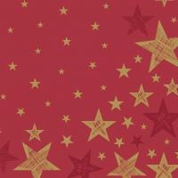 Servietten 33x33 cm - Shining Star Red