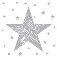 Servietten 24x24 cm - Shining Star White