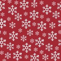 Servietten 33x33 cm - Red Snowflakes