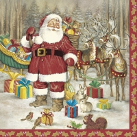 Servietten 33x33 cm - Hello Santa
