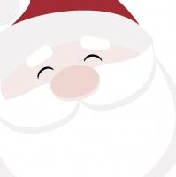 Servietten 33x33 cm - Santa Face