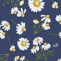 Servietten 24x24 cm - Pretty Daisy Blue