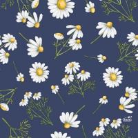 Servietten 33x33 cm - Pretty Daisy Blue
