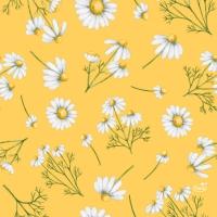 Servietten 33x33 cm - Pretty Daisy Yellow