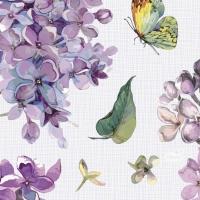 Servietten 24x24 cm - Sweet Butterfly Lilac