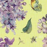 Servietten 24x24 cm - Sweet Butterfly Lime