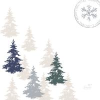Servietten 24x24 cm - Postcard Trees