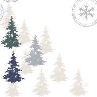 Servietten 33x33 cm - Postcard Trees