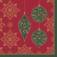 Servietten 33x33 cm - X-Mas Deco Red