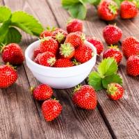 Servietten 33x33 cm - Frische Erdbeeren
