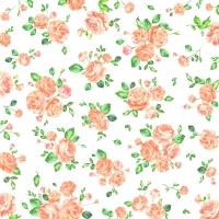 Servietten 33x33 cm - Kleine Rosen Aprikose