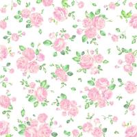 Servietten 33x33 cm - Kleine Rosen Rose