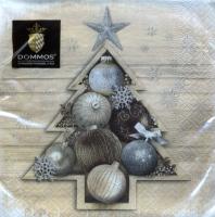 Servietten 33x33 cm - X-mas Tree Ornaments