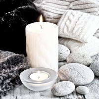 Lunch Servietten Nordic Candle