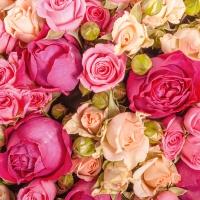 Lunch Servietten Bunch of Roses