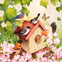 Lunch Servietten Bird House