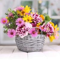 Lunch Servietten Flower Basket
