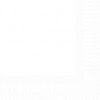 Zelltuch Servietten 33x33 cm - weiß