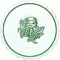 250 Glasdeckchen - 10,5 cm Traube jägergrün
