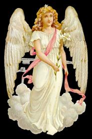 Glanzbilder mit Glimmer großer weißer Engel