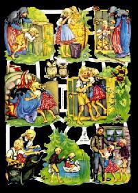 Glanzbilder - Hänsel und Gretel