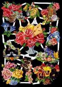 Glanzbilder Blumenstr?u?e,50er Jahre