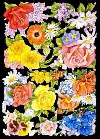 Glanzbilder - greller Rosenbogen