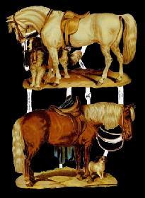 Glanzbilder - 2 Pferde
