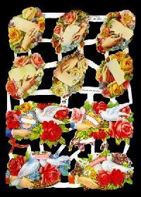 Glanzbilder - Blumenhände