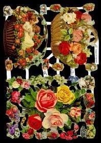 Glanzbilder - Blumenkorb-und Strauß