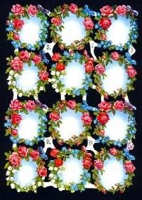 Glanzbilder - 12 Blumenkr�nze ohne Text