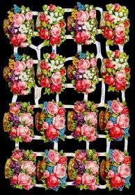 Glanzbilder - große Rosenkorbe