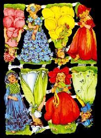Glanzbilder - 8 Blumenkinder
