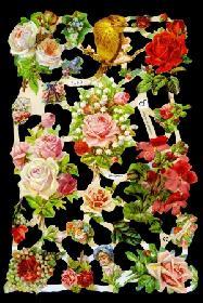 Glanzbilder - Blumen with Tiere