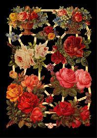 Glanzbilder - rote Rosen
